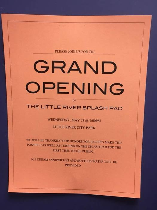 Splash Pad Grand Opening