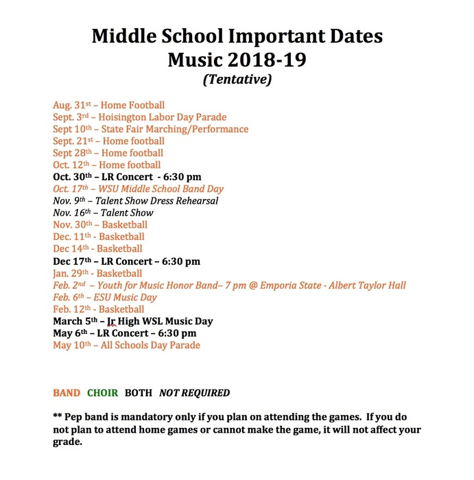 Music Important Dates