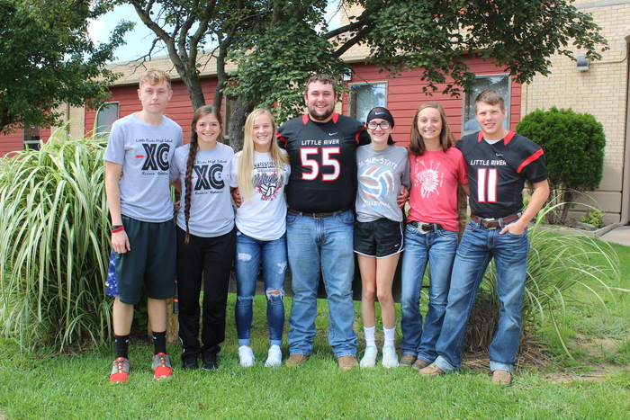 Brandon, Roylin, Gracie, Kody, Macey, Hannah, & Hunter HOMECOMING Ceremony will be Sept. 28th on the Football Field at 6:30.