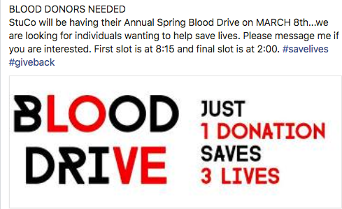 STUCO Blood Drive