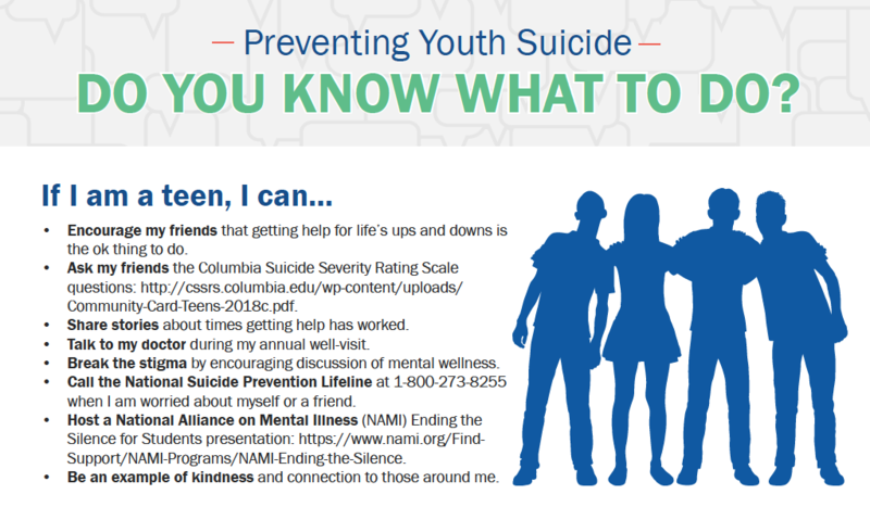 Suicide Prevention Tips for Teens, Parents, & Community